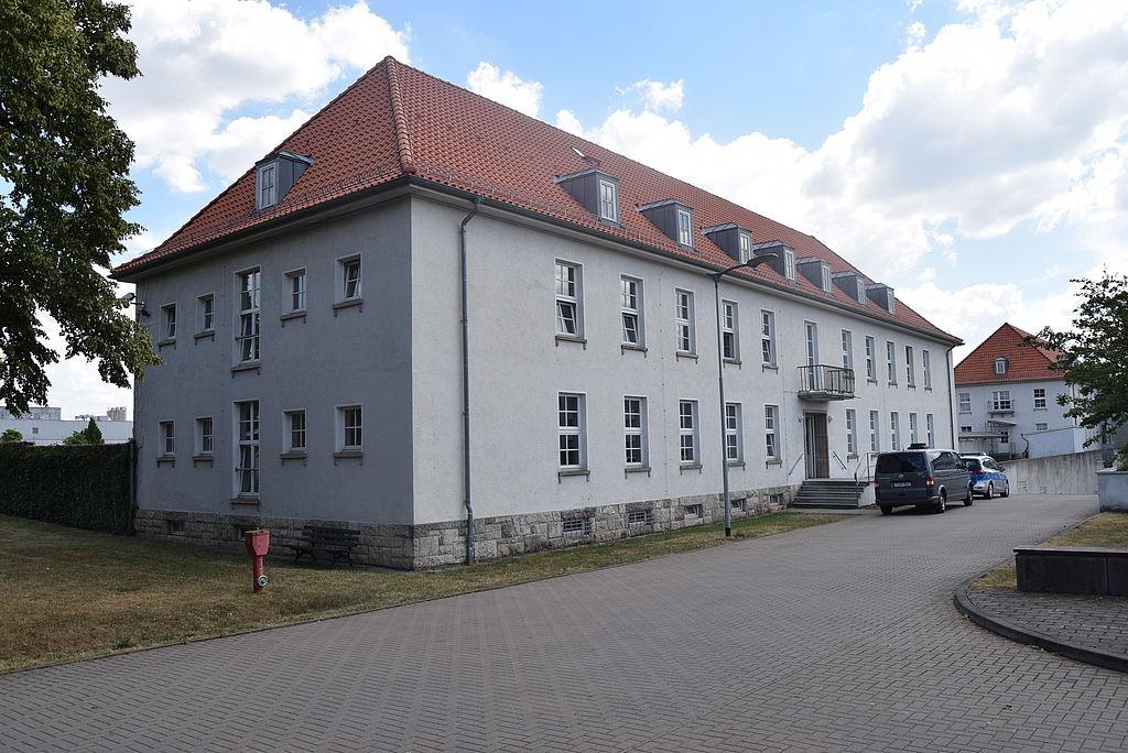 Das Bild zeigt das Gebäude der Einsatzunterstützung Nordhausen