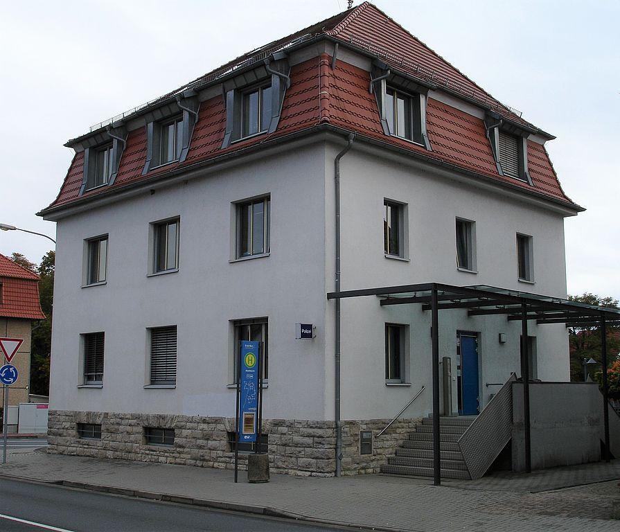 Das Bild zeigt das Gebäude der Polizeistation Leinefelde