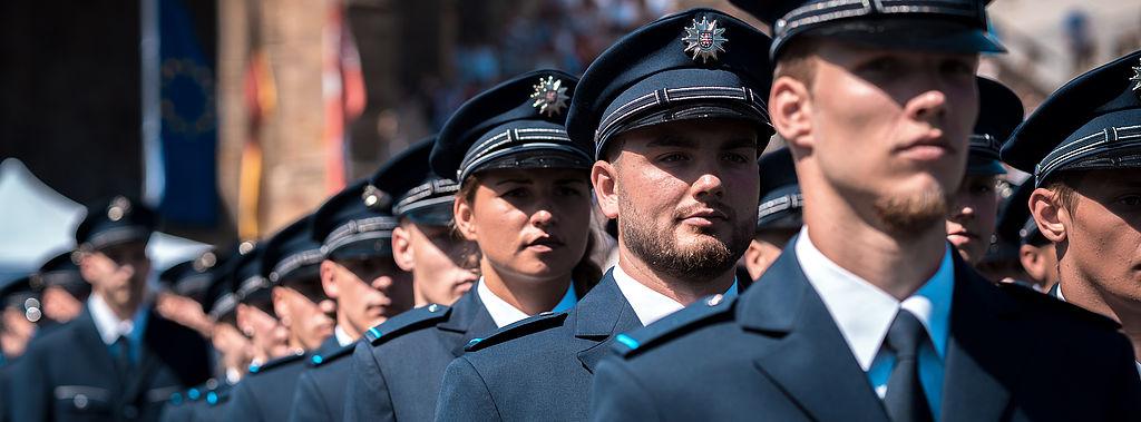 Fotoaufnahme Polizeianwärter