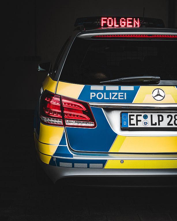 Fotoaufnahme Polizeifahrzeug